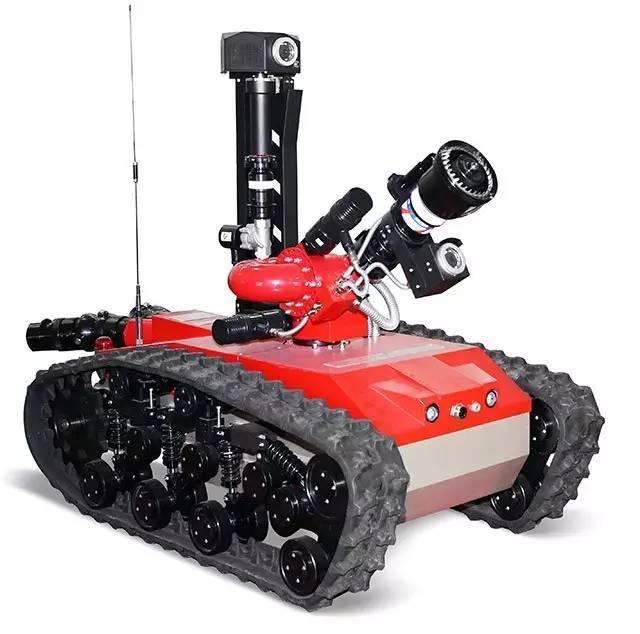 中信重工特种防爆消防灭火侦察机器人进入消防部队